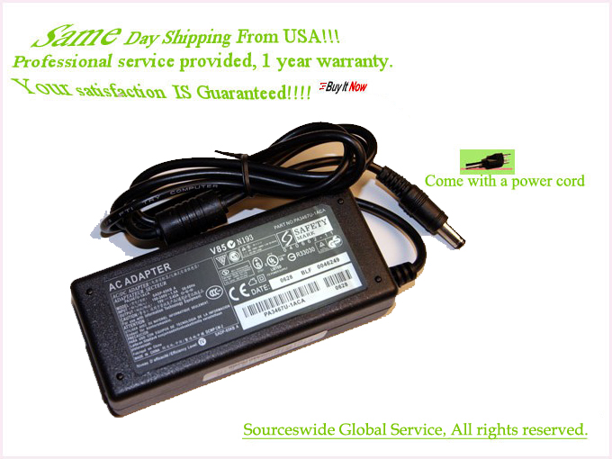 New AC Adapter Battery Charger Power Cord Supply For TOSHIBA L45
